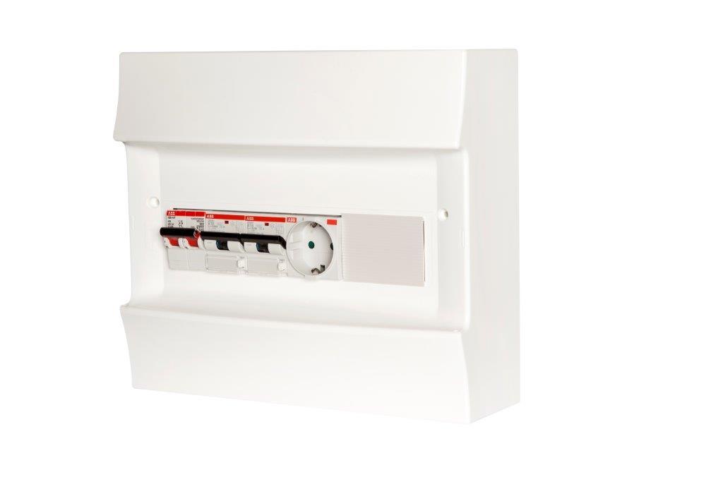ABB Installatiedozen en -kasten PV-verdeler 2x combimaat B16 met WCD en hoofdschakelaar (1SPN001600F0060)