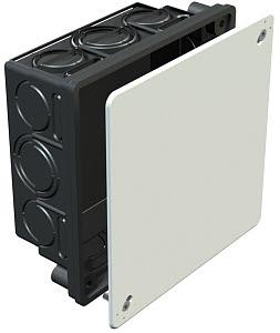 OBO Inbouwdoos vierkant met deksel 150x150x65mm zwart
