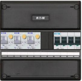 Eaton groepenkast 3 aardlekautomaten 220x220 (BxH) 3 fase HFD