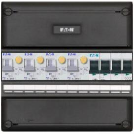 Eaton groepenkast 4 aardlekautomaten 220x220 (BxH) 3 fase HFD