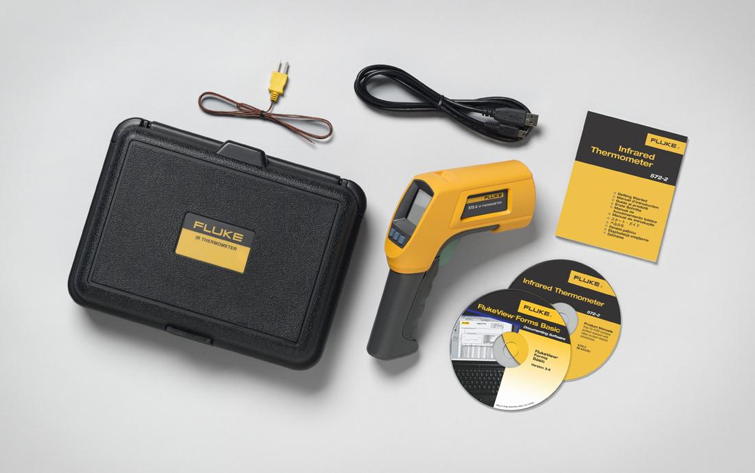 FLUKE Infrarood- en contactthermometer -30 tot 900ºC, incl. koffer, software