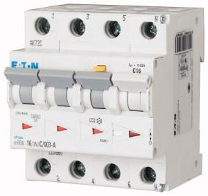 Eaton aardlekautomaat 3-polig+nul 16A B-kar 100mA (120654)