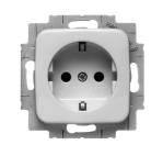 ABB Busch-Jaeger stopcontact met randaarde en kinderbeveiliging 1-voudig - SI crème (20 EUCKS-212-503)