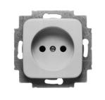 ABB Busch-Jaeger inbouw stopcontact 1-voudig ongeaard - SI crème (2300 UC-212-500)
