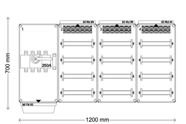 Verdeelinrichting 250A 144 modules