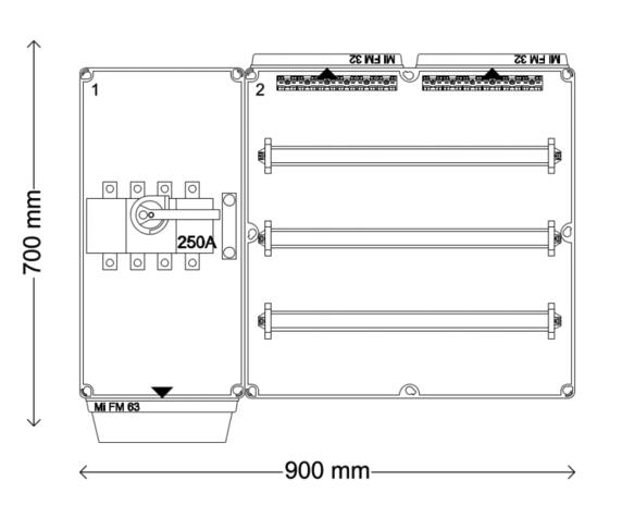 Verdeelinrichting 250A 96 modules