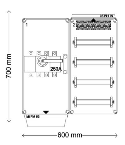 Verdeelinrichting 250A 48 modules