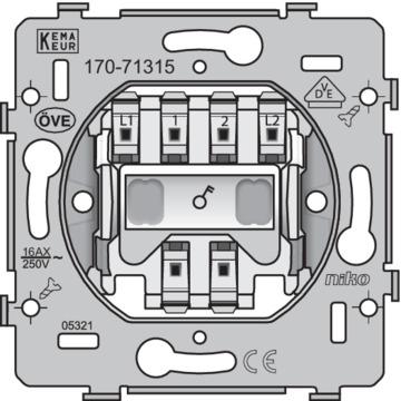 Niko Basiselement - Schakelaar 2-polige schakelaar 16A 170-71315