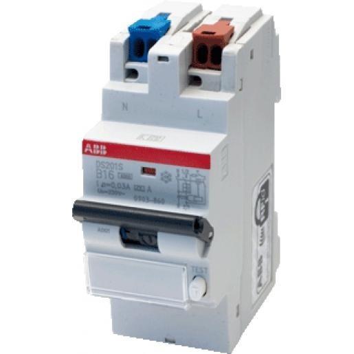 ABB aardlekautomaat 1-polig+nul 16A B-kar 30mA schroefloos (0903.860)