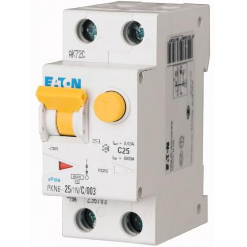 Eaton aardlekautomaat 1P+N 20A B-karakteristiek