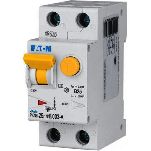 Eaton aardlekautomaat 1-polig+nul 25A B-kar 30mA (236697)