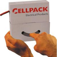 Cellpack krimpkous op rol 6.4/3.2mm zwart 10m