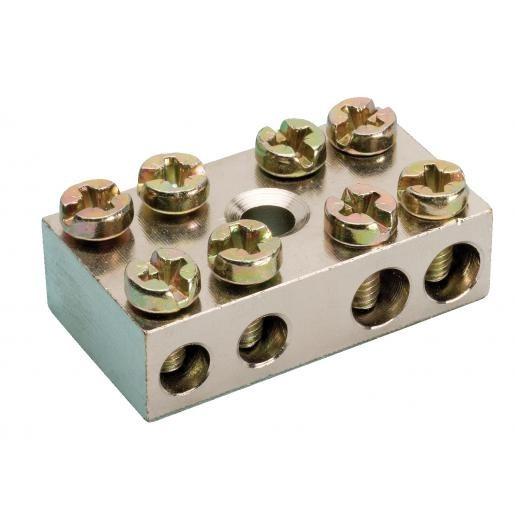 JMV aansluitblok aarde 2x25mm2 + 2x6mm3 (200041)