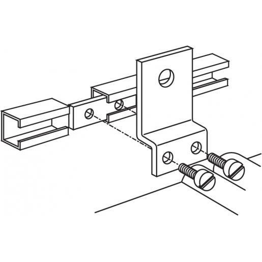 Eaton Holec Halyester koppelstrip voor koppelen C-profielen met 2 x M6 1042.337