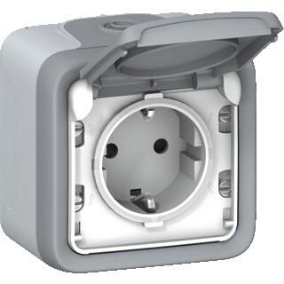 Legrand plexo IP55 wandcontactdoos randaarde 1-voudig compleet