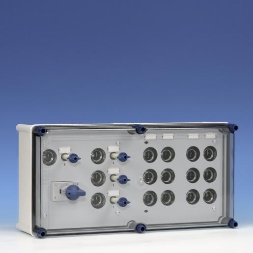 Eaton Holec Halyester krachtgroepenkast GLKS4044 63A/4X25A