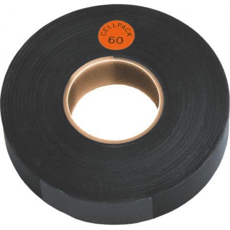 isolatietape 19mm x 10 meter zwart (125588)