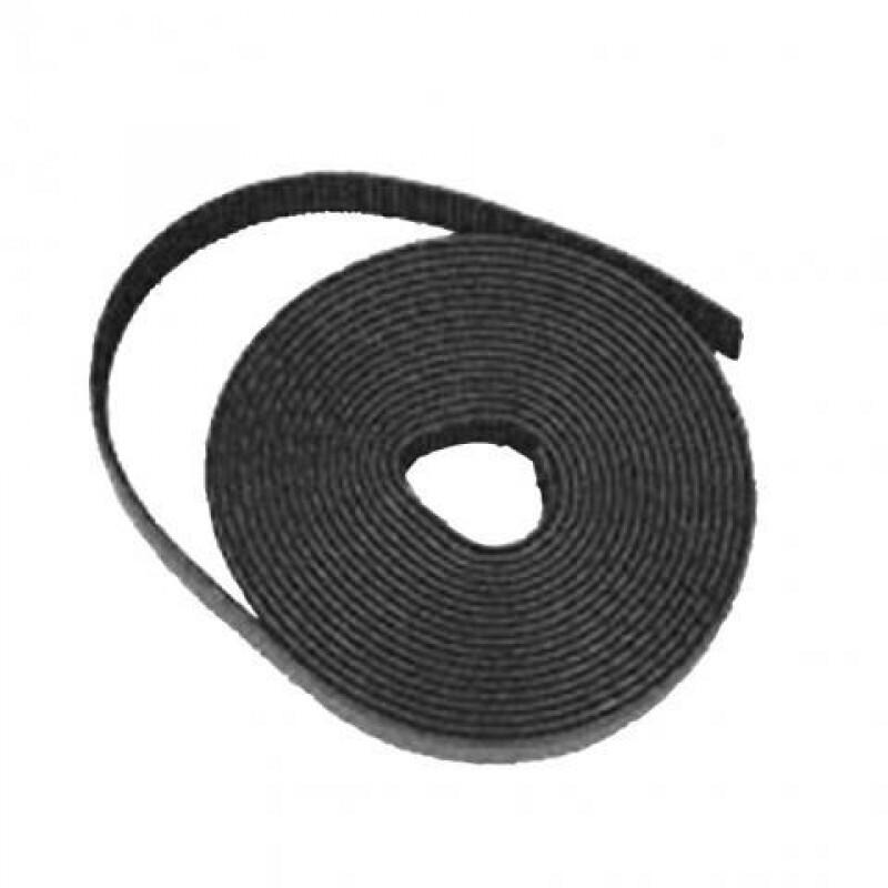 Gigamedia klittenband 13mm zwart rol 5m