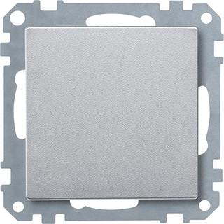 Schneider-Merten systeem M blindafdekking - aluminium (MTN391860)