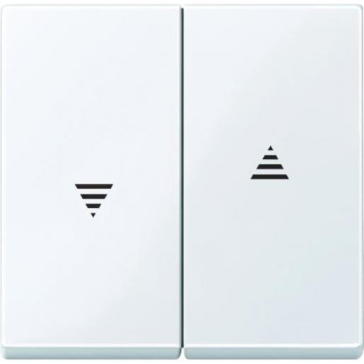 Schneider Electric systeem M seriewip jaloezie met pijlen actiefwit