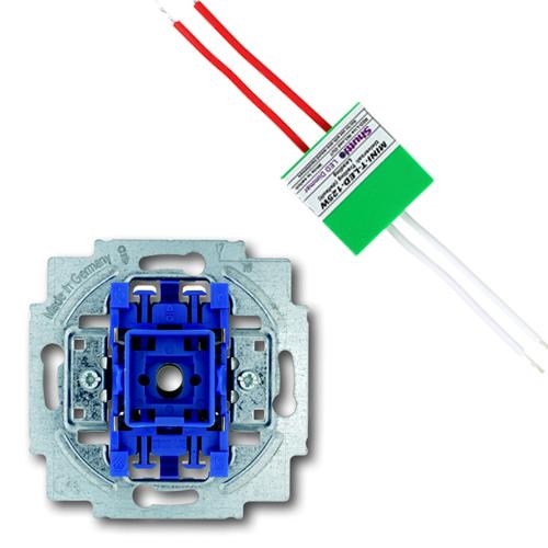 EMAT set impulsdrukker + shuttle dimmer LED/halogeen 125W (EM2700440020-125W)
