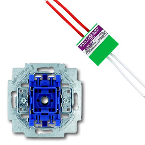 EMAT set impulsdrukker + shuttle dimmer LED/halogeen 250W (EM2700440020-250W)
