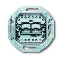 ABB Busch-Jaeger datacontactdoos inbouw 2xRJ45 CAT3 - All-weather 44 (0215)