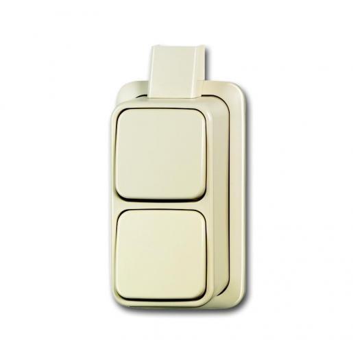 ABB Busch-Jaeger opbouw wipschakelaar 2-voudig - AP Plus crème wit (2601/6/2601/6)