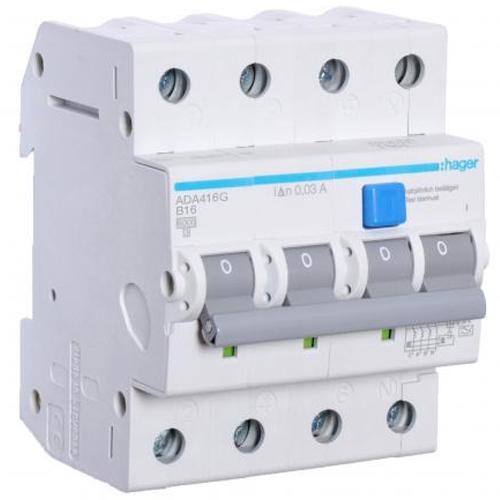 Hager aardlekautomaat 3-polig+nul 16A B-kar 30mA (VKS14SB)