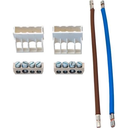 ABB Installatiedozen en -kasten renovatie aansluitset 2x 4-voudig aansluitblok+afdekkap 1x br+1xbl, 4mm2, l=155mm (1SPF007929F0150)