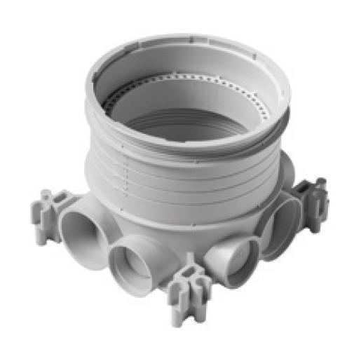Legrand enkelvoudige inbouwdoos Batibox multihouder diepte 50mm Platinum
