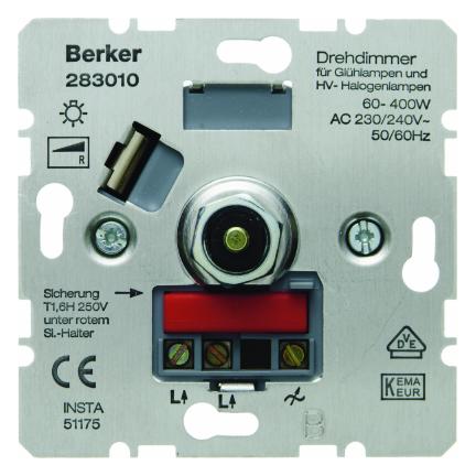 Hager Berker inbouw draaidimmer 60-400W (283010)