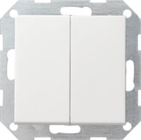 Gira drukvlakschakelaar wissel/wisselschakelaar bedieningswip - zuiver wit (012803)