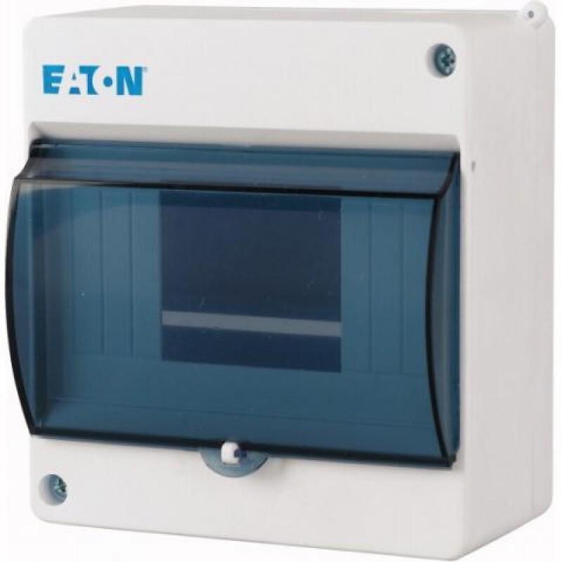 Eaton mini installatiekast leeg 1-rij 6 modules incl. N/PE klem IP30 130x140x83 mm