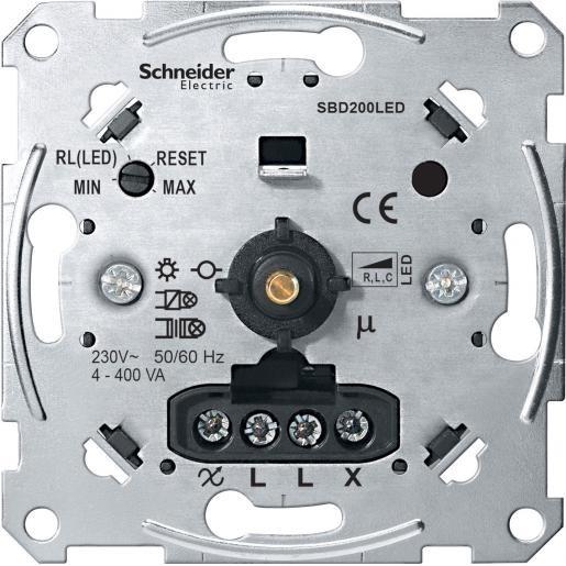 Schneider-Merten draaidimmer universeel LED 400W (MTN5134-0000)