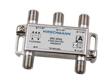 Hirschmann Multimedia DFC 0741 vierverdeler 7 dB geschikt tot 1,2 GHZ retourgeschikt