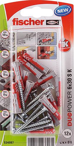 Fischer 534997 FIS DUOPOWER 6X30 S K NV per 12 stuks