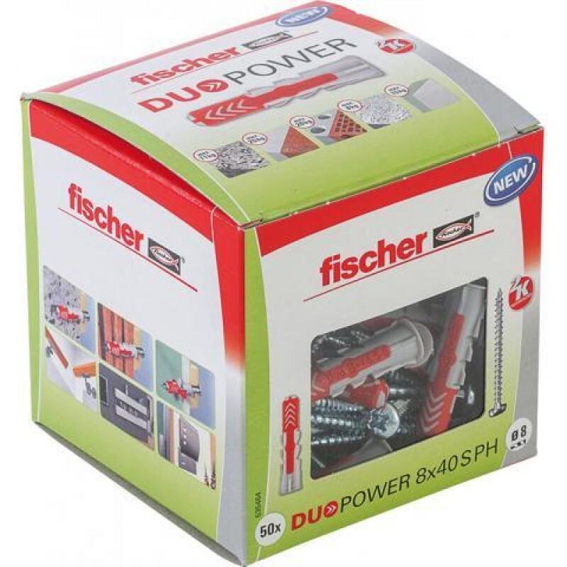 Fischer duopower plug 8MM per 50(535464)