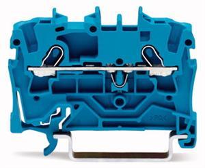 Wago rijgklem 2-draads 1 mm blauw (2000-1204)