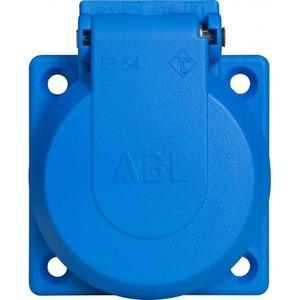 ABL machinecontactdoos 2P met randaarde IP54 - blauw (1661-050)