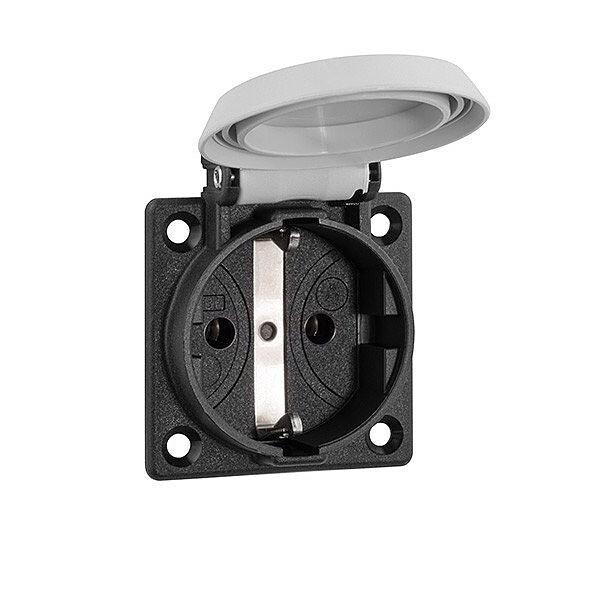 ABL machinecontactdoos met randaarde 1-voudig IP54 50x50 mm - grijs (1661-060) (4011721158488)