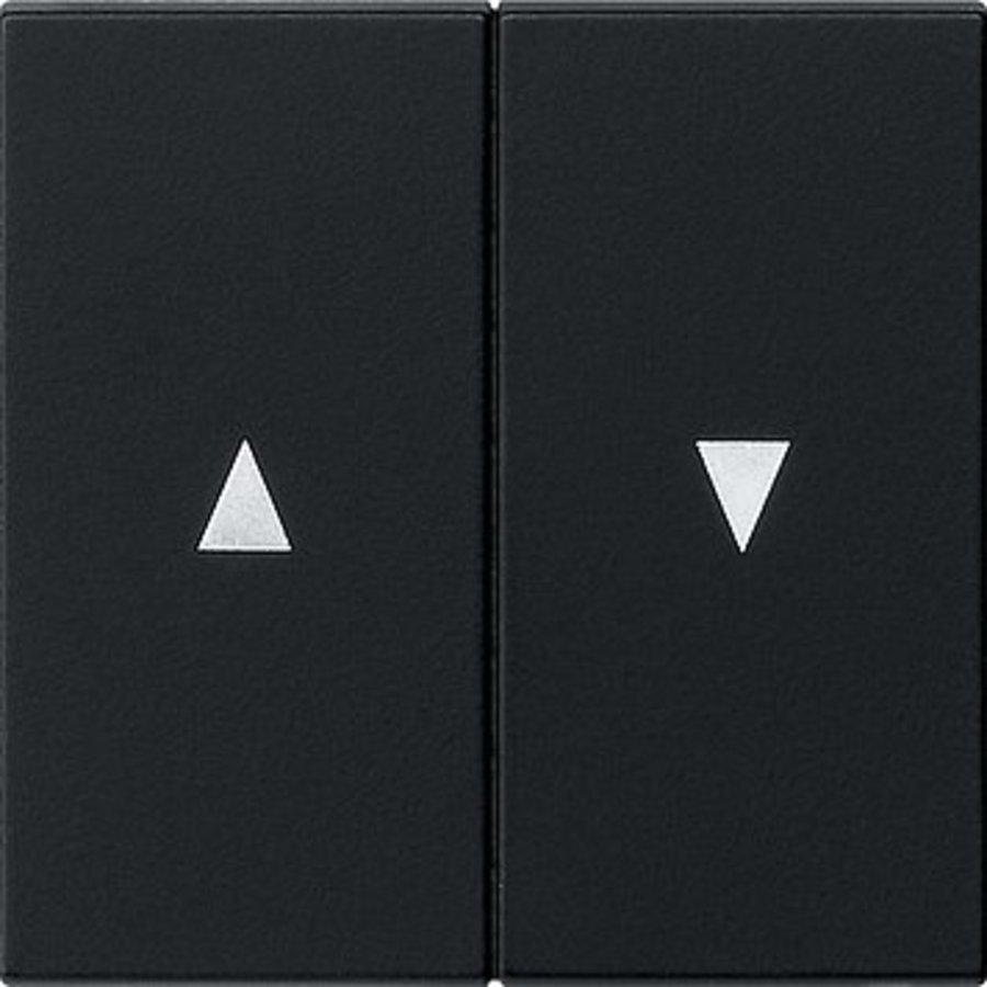 Gira wip 2-voudig met pijlsymbool jaloezie systeem 55 zwart mat (0294005)