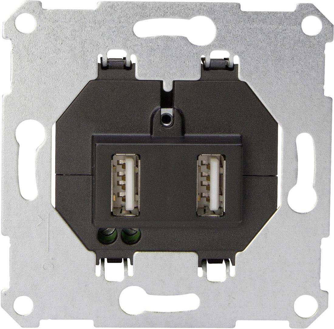 Kopp sokkel usb stopcontact 2x1.050 mA
