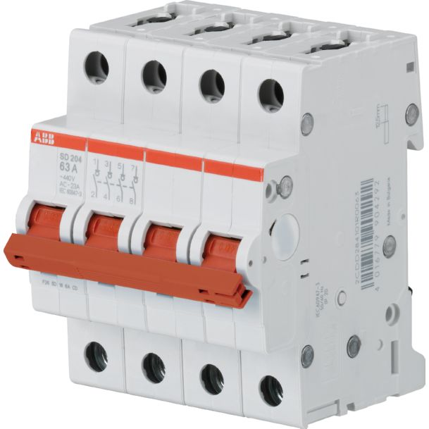 ABB Componenten hoofdschakelaar 4P 40A SD204/40
