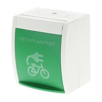 ABB Busch-Jaeger wandcontactdoos en geaard fietsoplaadpunt (20 EBW-54)