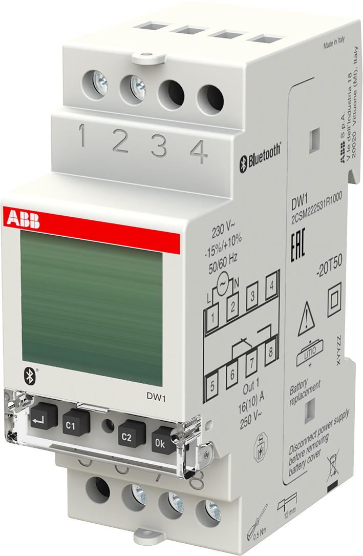 ABB Componenten digitale tijdschakelklok timer wekelijks 1 kanaal Systeem pro M compact (DW1)