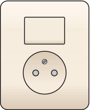 Niko Original - Combinatie schakelaar-wandcontactdoos crème 100-62416