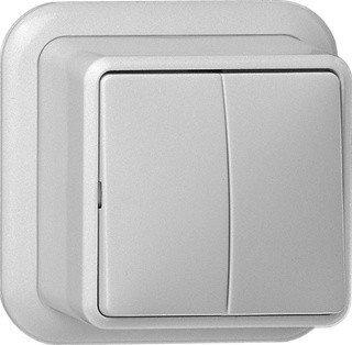 Gira serieschakelaar 10A 250V - zuiver wit (010511)