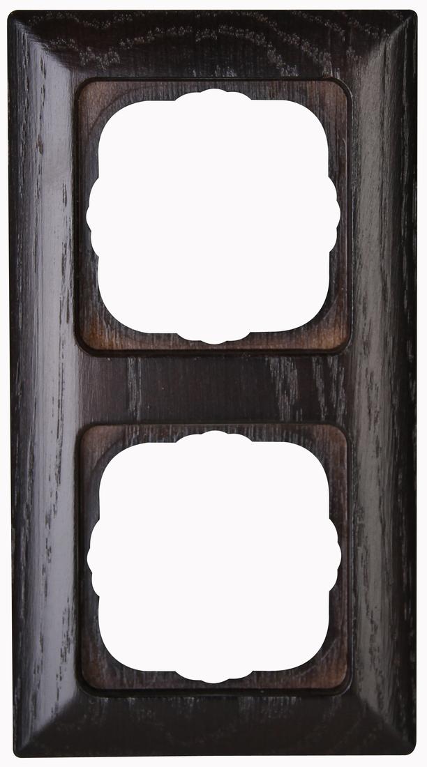 Kopp HK02 afdekraam voor verticale en horizontale montage 2-voudig wenge