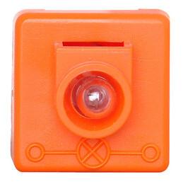 Kopp glimlampje 12-voudig oranje